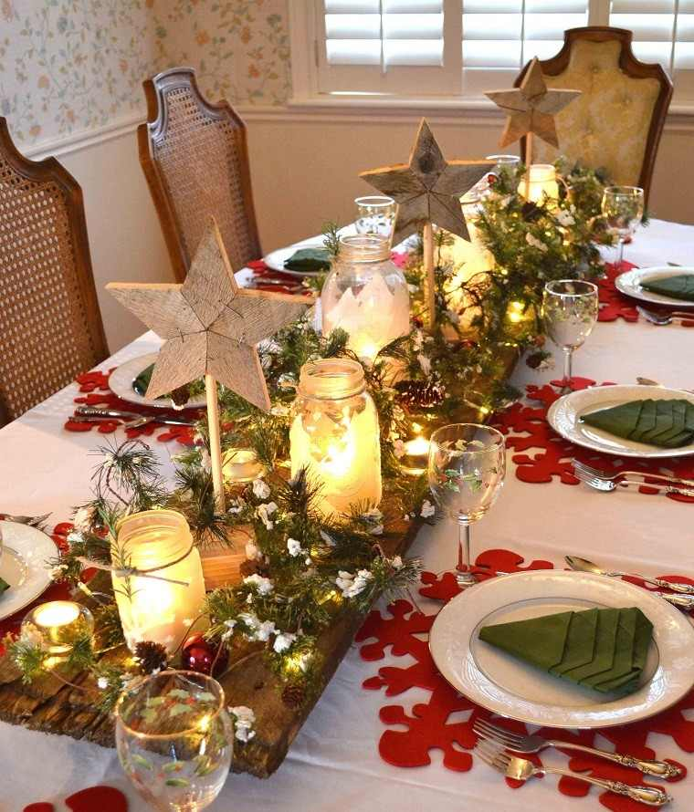 arbol ramas decorar casa otono madera mesa preciosa ideas