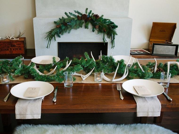 arbol ramas decorar casa otono abeto verde ideas