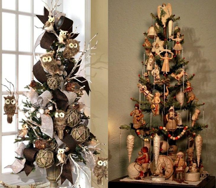 Rboles de navidad de estilo vintage originales ideas - Adornos navidad originales ...