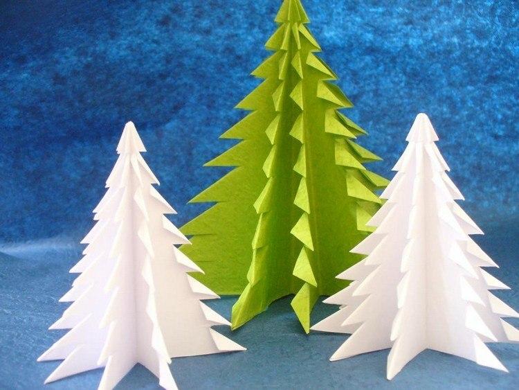 arboles colores papel reciclado azul