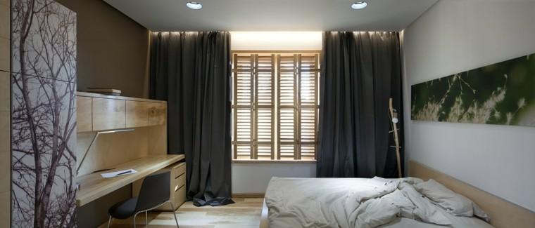 arboles cuadros estilo casa cortinas