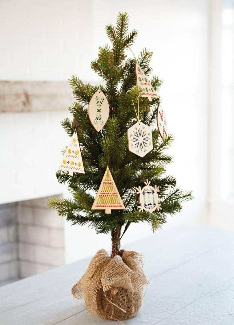 arboles de navidad decoracin mesa adornos madera ideas