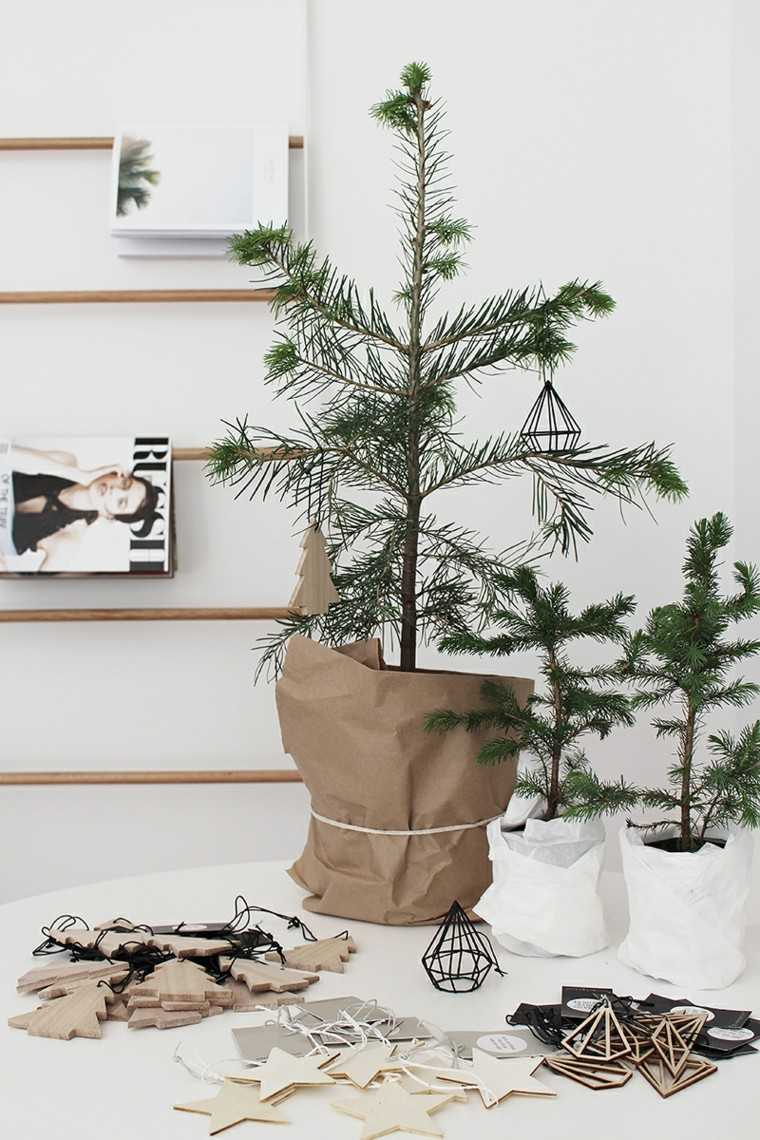 arboles de navidad decoración mesa diseno ideas