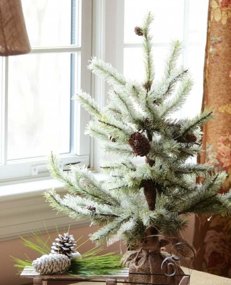 arboles de navidad decoración mesa interesante ideas