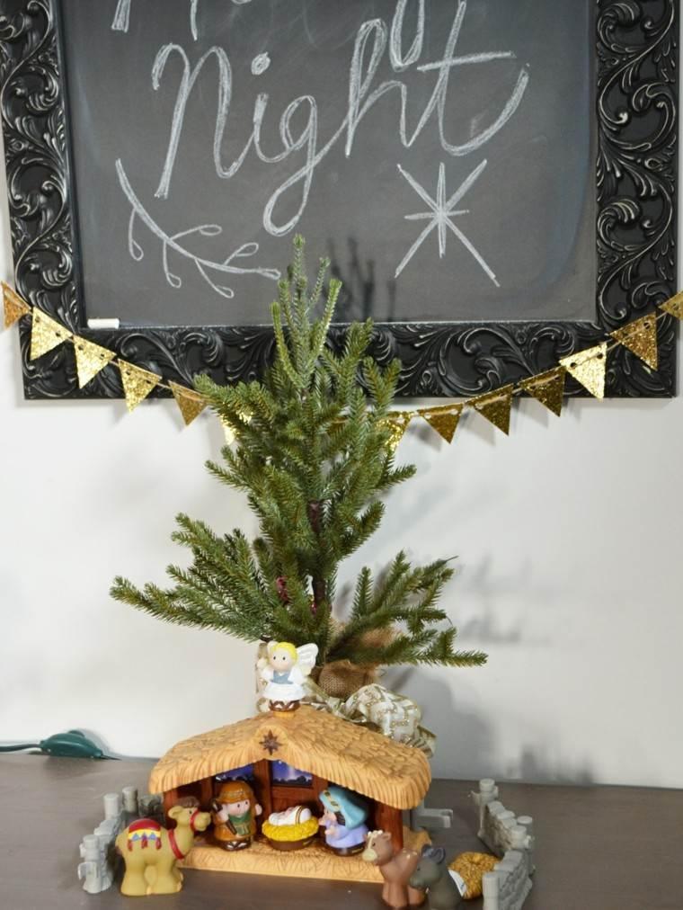 arboles de navidad decoracion mesa manualidades ideas