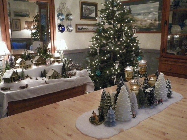 arboles de navidad decoración mesa varias ideas modernas