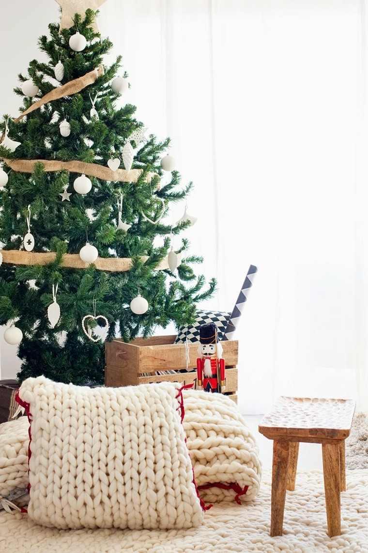 arboles navidad ideas adornos navidenos lazo moderno