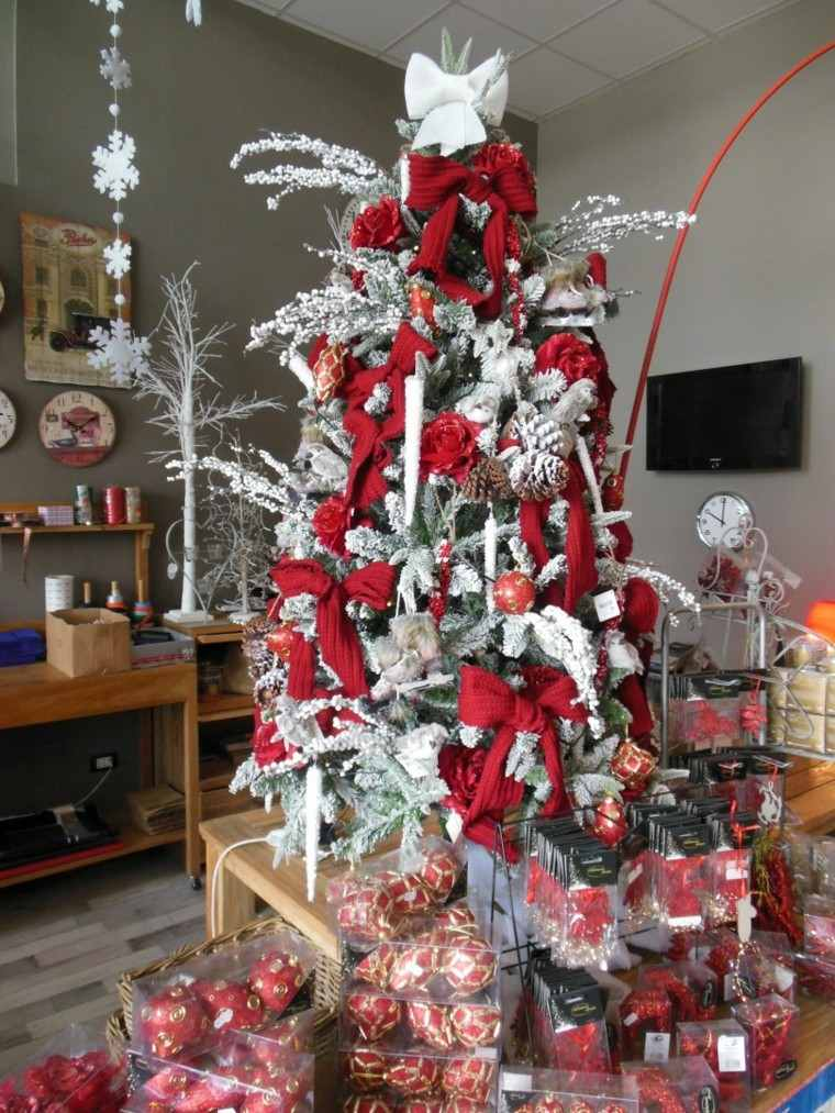 Arboles de navidad ideas de adornos para el rbol artificial - Arbol de navidad blancos ...