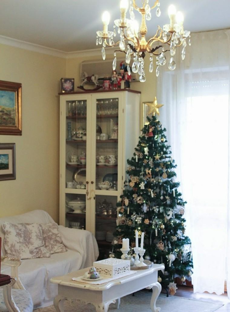 arboles de navidad ideas adornos navidenos salon moderno