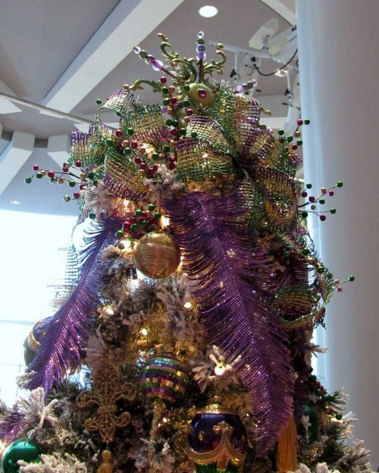 arboles de navidad originales ideas colorido plumas