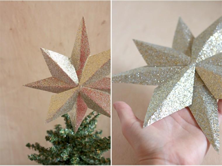 arboles de navidad originales ideas estrella colorida brillo