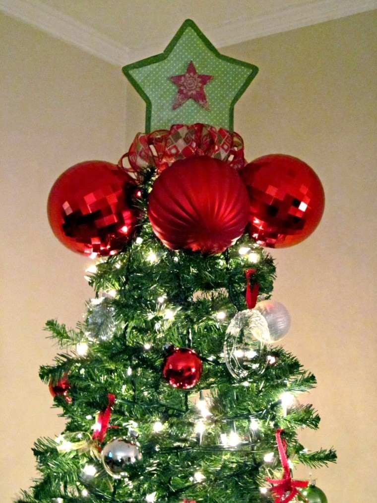 arboles de navidad originales ideas estrella tela bolas