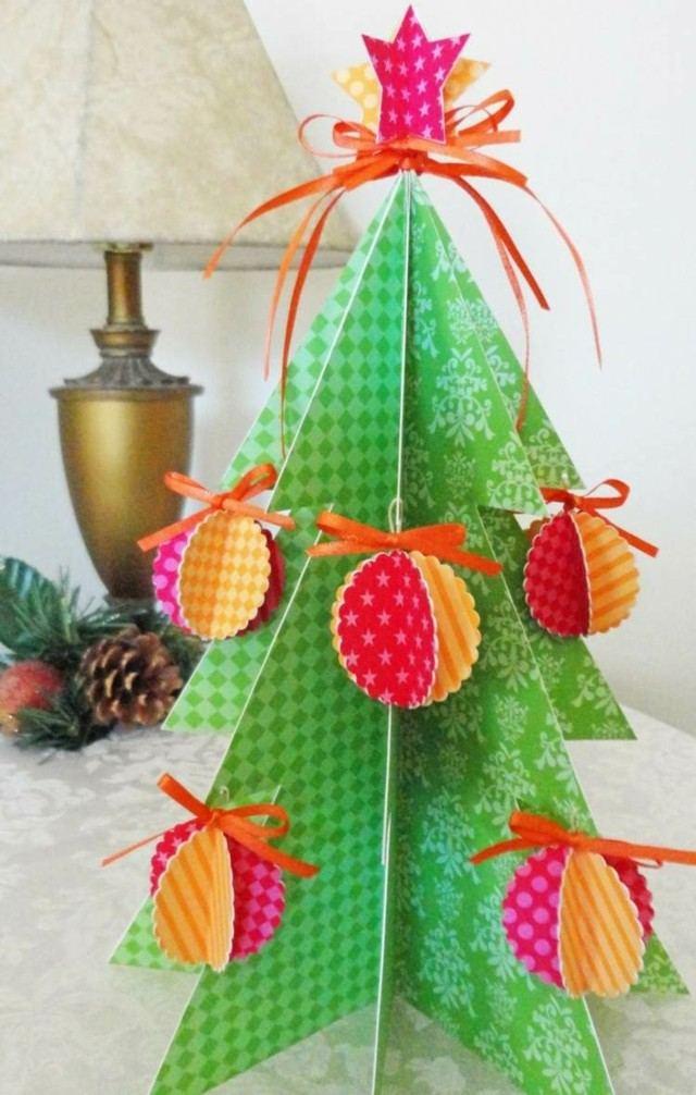 arboles de navidad cartulina colores