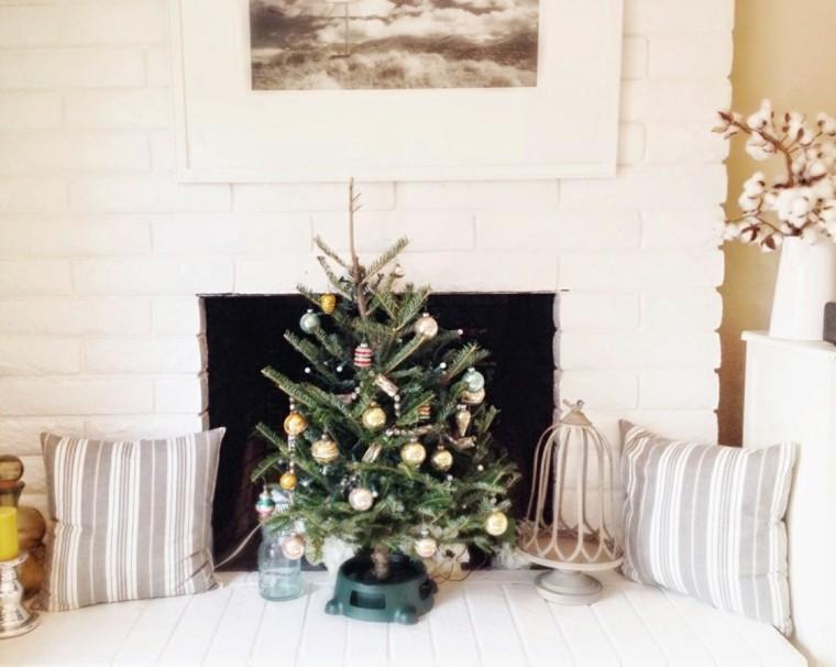 arboles navidad decoración mesa adornos ideas