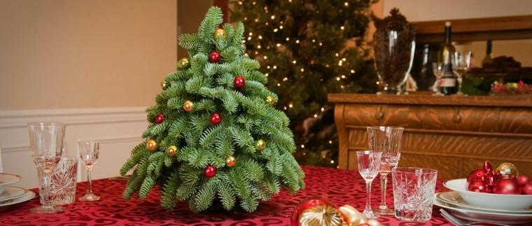 arboles navidad decoracion mesa bolas mini ideas