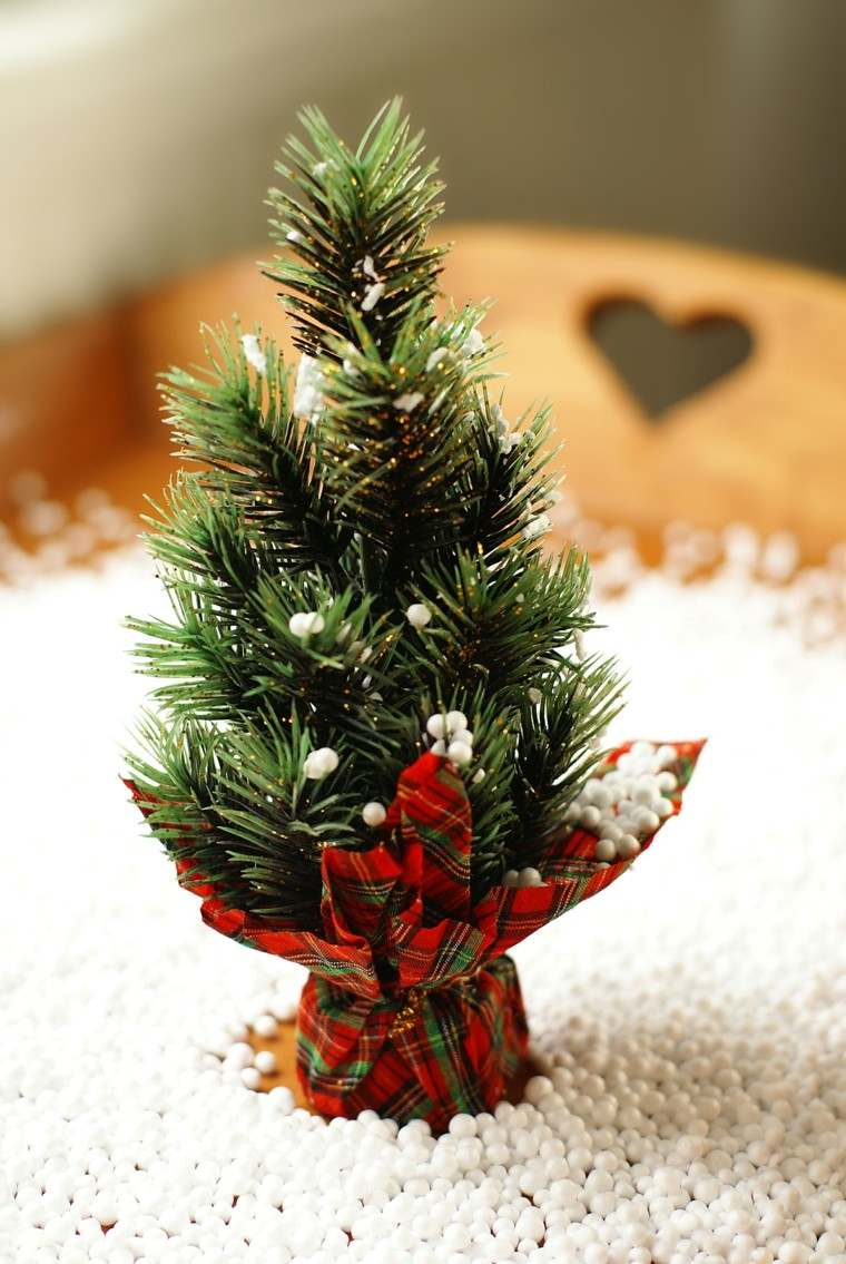 arboles navidad decoracion mesa bonito ideas