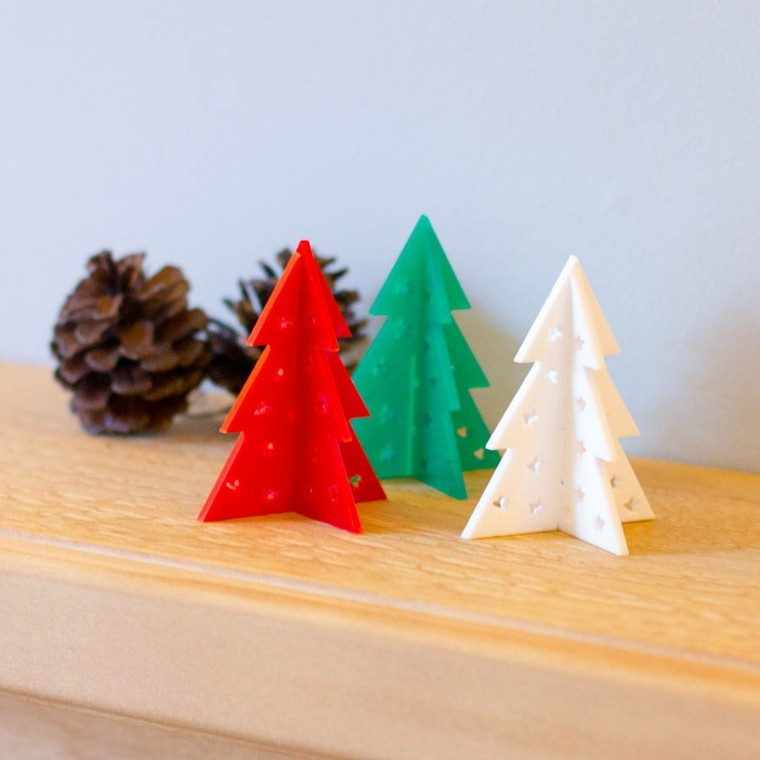 arboles navidad decoracion mesa distintos colores ideas