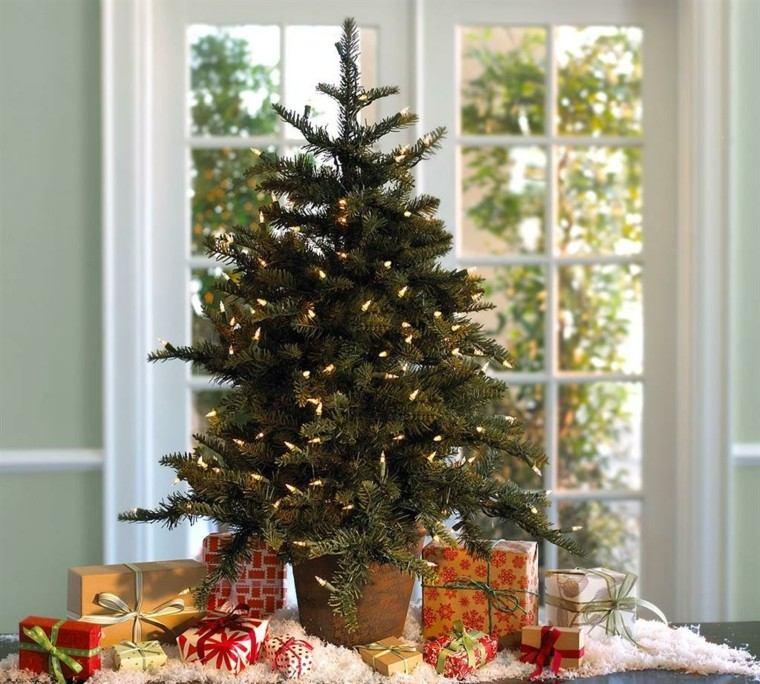 arboles navidad decoracion mesa luces ideas