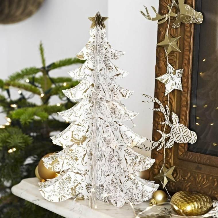 arboles navidad decoracin mesa papel ideas