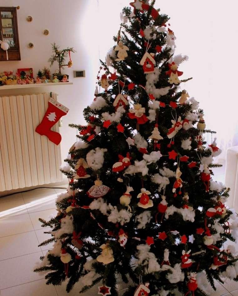 Arboles de navidad ideas de adornos para el rbol artificial - Arbol navidad nieve ...