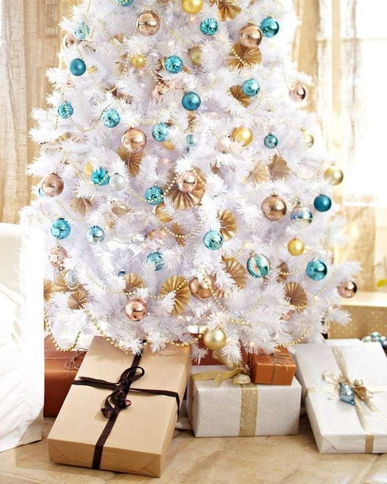 arboles navidad ideas adornos navidenos azul oro moderno