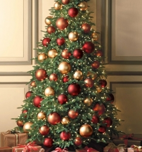 DECORACION DE NAVIDAD Arboles-navidad-ideas-adornos-navidenos-bolas-grandes-280x300