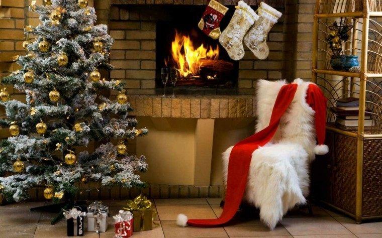 arboles navidad ideas adornos navidenos bolas oro moderno