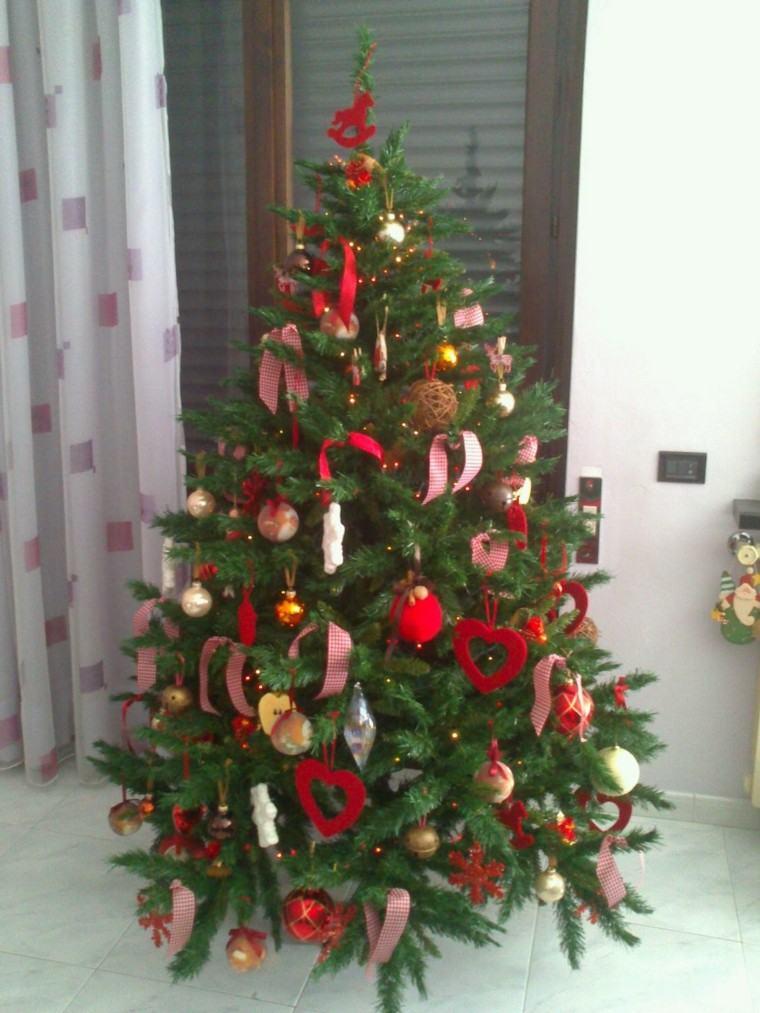 arboles navidad ideas adornos navidenos corazones moderno