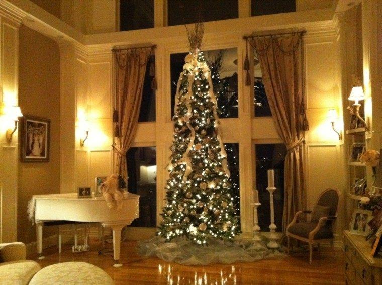 arboles navidad ideas adornos navidenos luces preciosas moderno