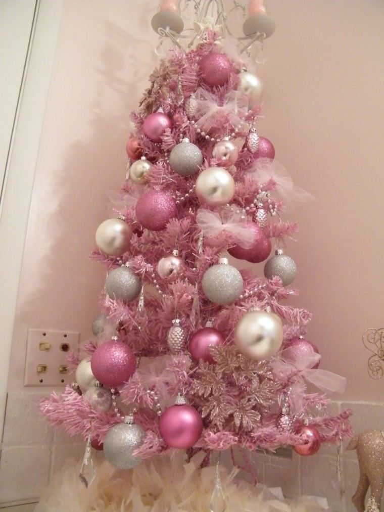 Pink And Silver Christmas Tree Decorations