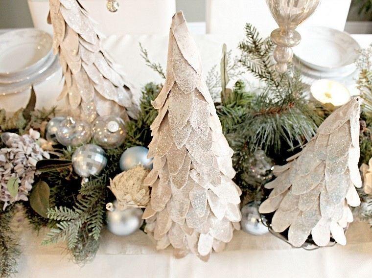 Color blanco oro y plata ideas para los adornos navide os - Decoraciones en color plata ...