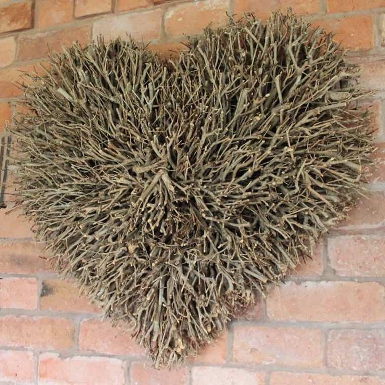 arboles ramas decorar casa otono corazon rustico ideas