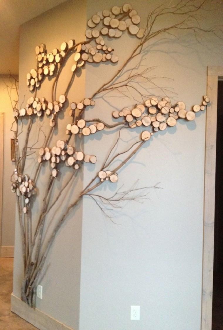 Decoracion Arbol Pared ~ Otra idea para decorar la pared con ramas