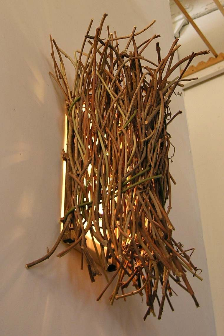 arbol ramas decorar casa otono lamapara original ideas