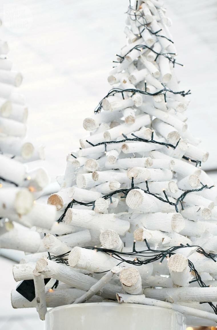 arboles ramas decorar casa otono troncos blancos ideas