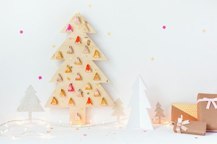 arbolito navidad plano madera regalos