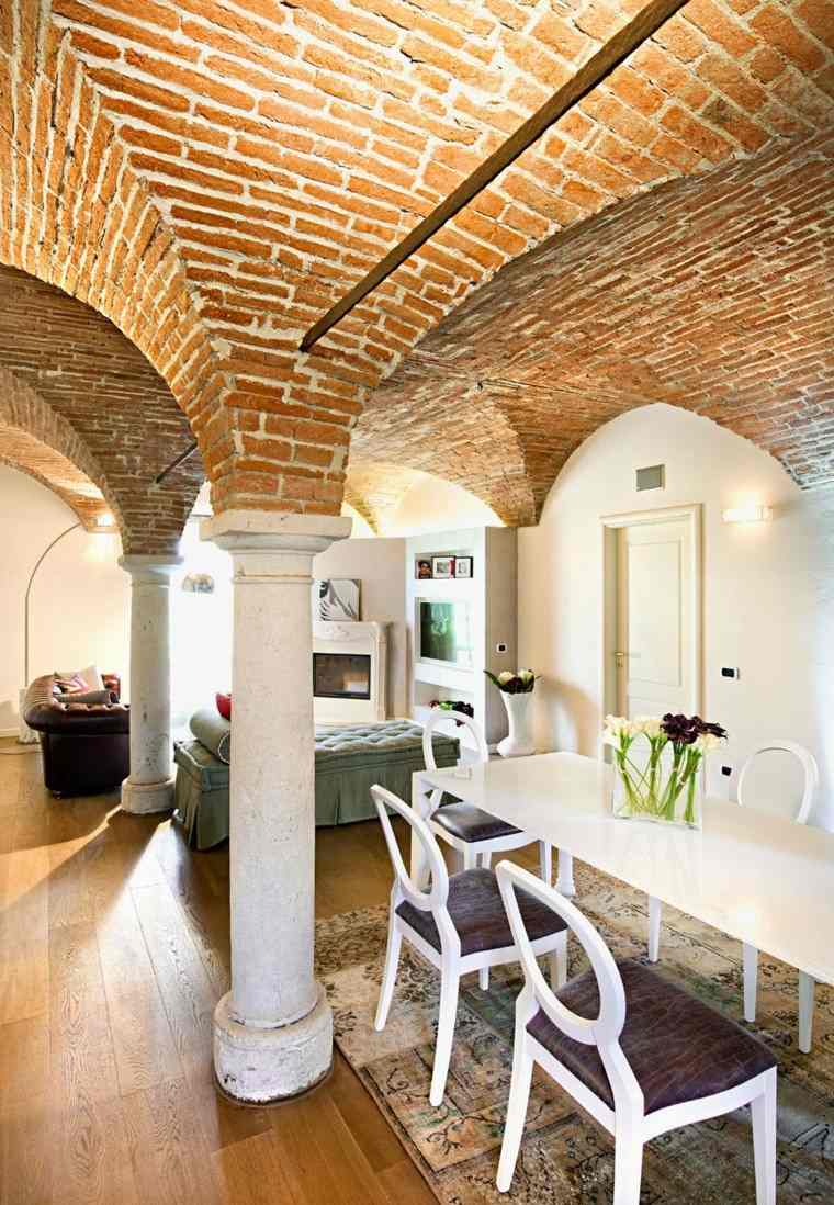 casa techo abovedado moderno barra ideas