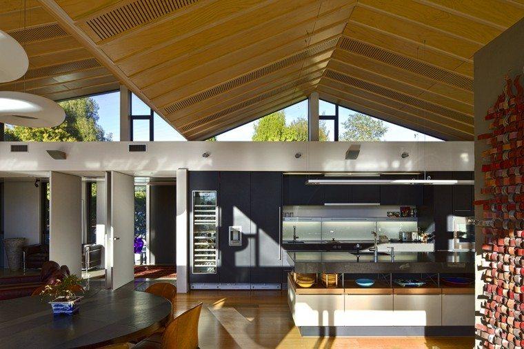 arquitectura casas techo abovedado moderno cocina amplia ideas