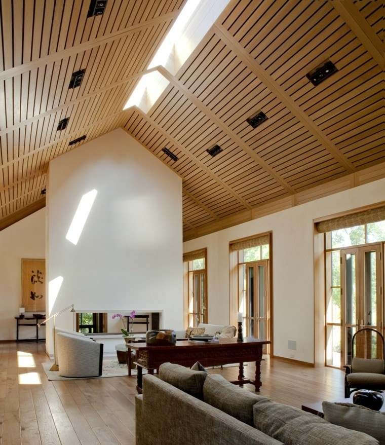 casa techo abovedado moderno salon amplio ideas
