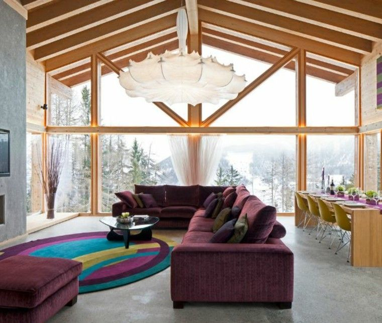 casa techo abovedado moderno ventana grande ideas