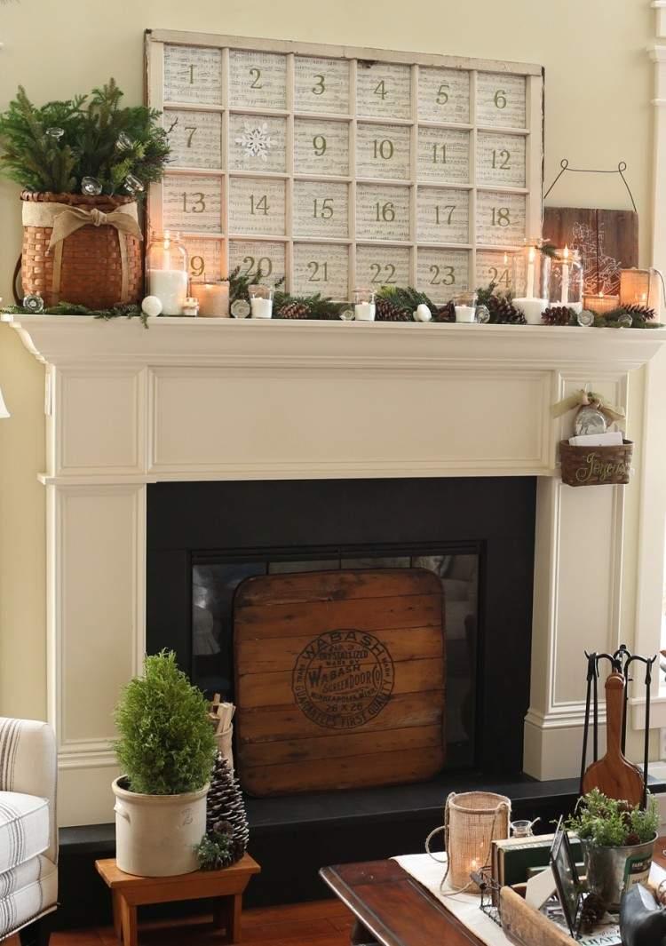artesania elegante moderna chimenea cestos