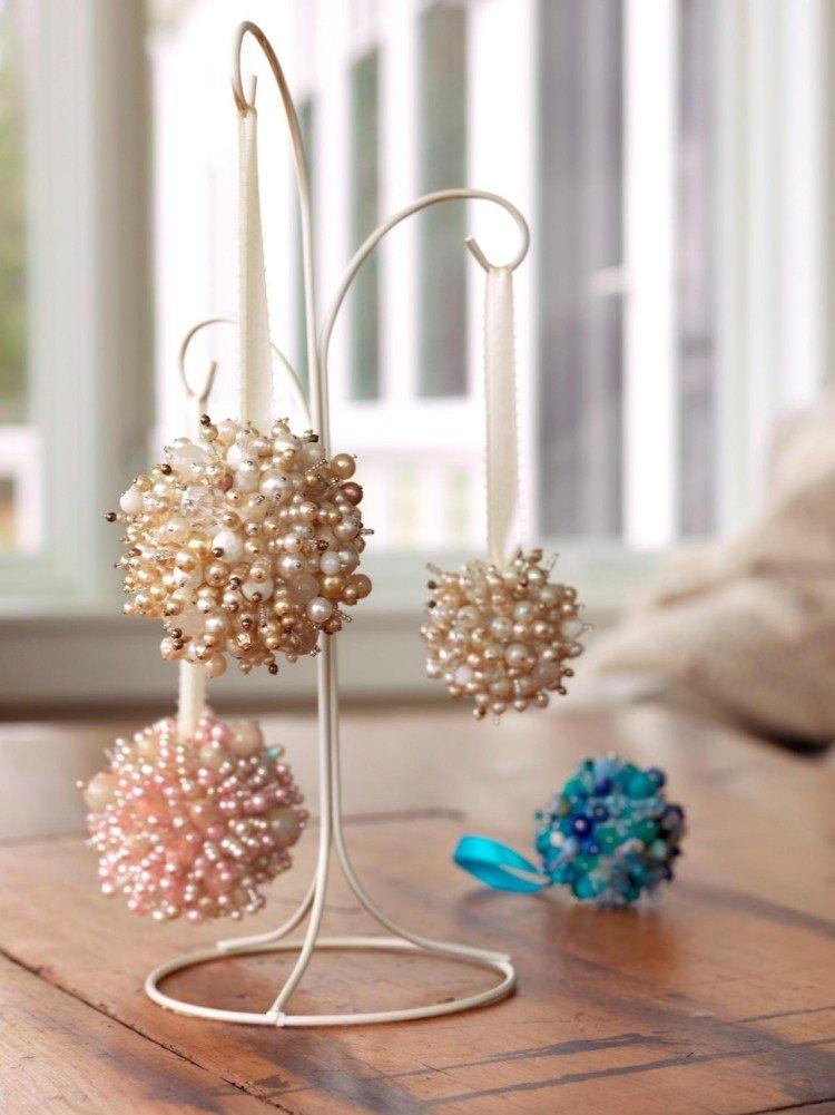 artesania moderna perlas coloridas soporte