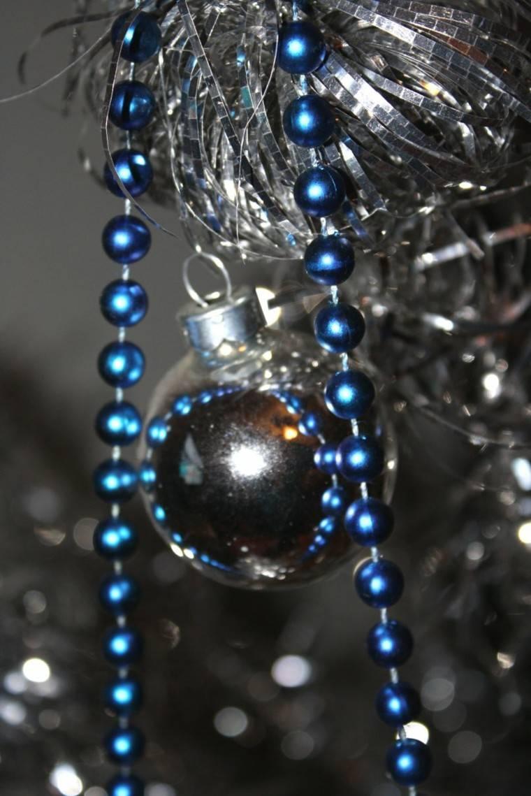 azul y plata ideas decoracion arbol cuerdas
