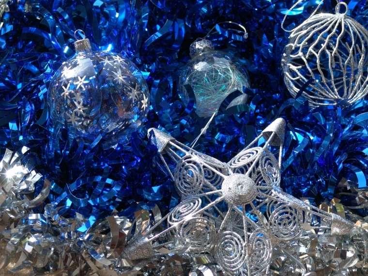 azul y plata ideas decoracion estrella esferas