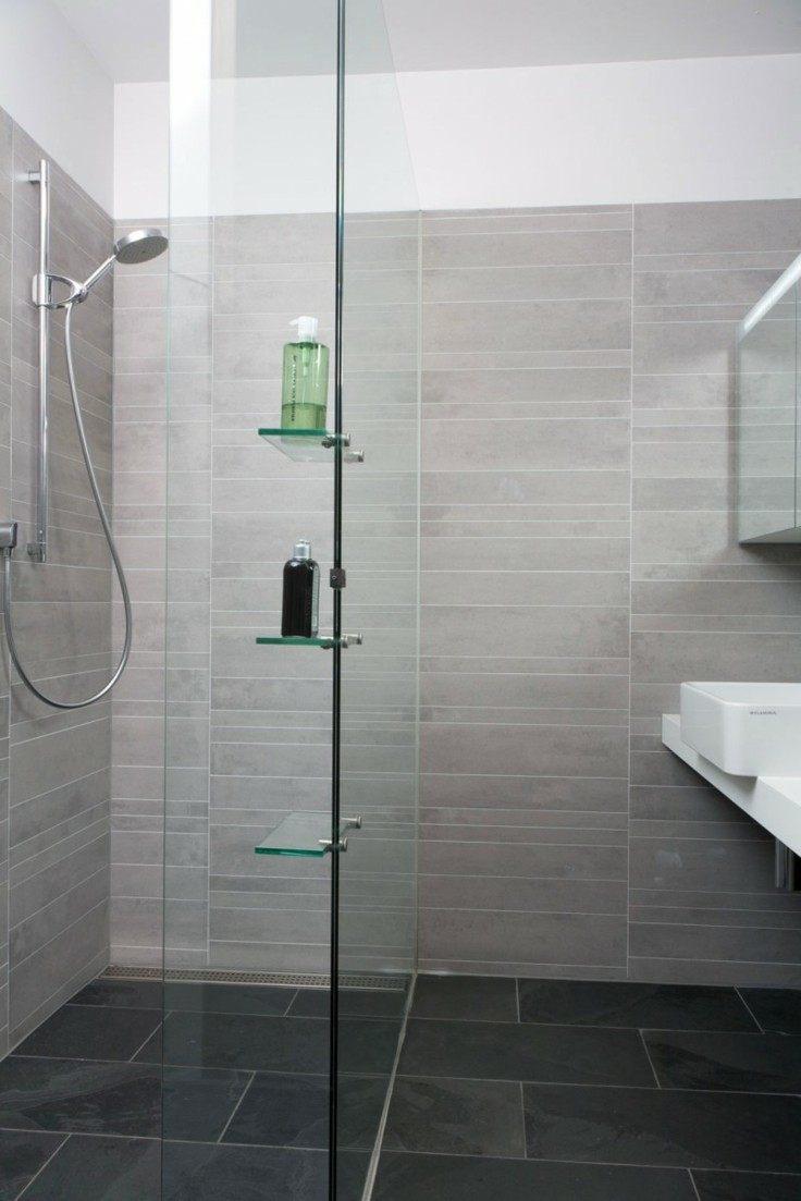 azulejos grises baños modernos
