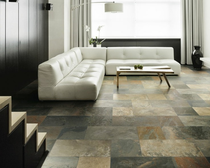 Azulejos grises para suelos y paredes 50 modelos - Suelos de cocina modernos ...