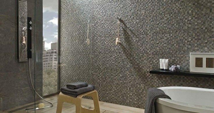 azulejos baño mosaico estilo moderno