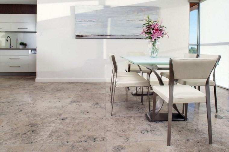 Azulejos travertino 75 ideas de para suelos y paredes - Cocinas comedor modernas ...