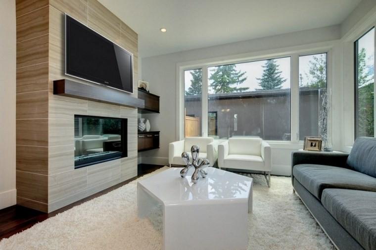 Azulejos travertino 75 ideas de para suelos y paredes for Casa moderna blanca