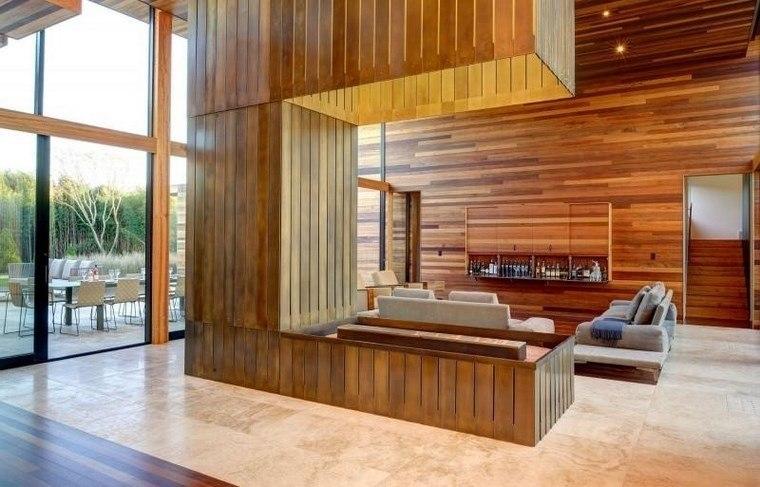 Azulejos travertino 75 ideas de para suelos y paredes for Interior de la casa de madera moderna